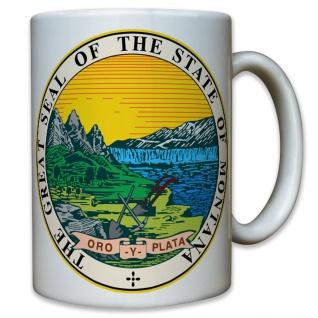 Montana State Seal Siedler Ein USA Amerika Staat Emblem Land - Tasse #10489 T