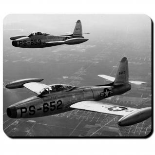 F-84 Republic Jet Kampfjet Flugzeug US Air Force USAAF Amerika - Mauspad #10577