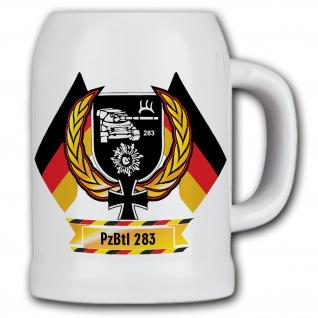 Bierkrug PzBtl 283 Panzer Bataillon BW Andenken Geschenk Bundeswehr #11857