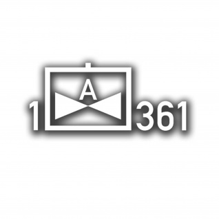 Aufkleber/Sticker Heeresflieger 1 Fliegende Abteilung 361 14x32cm A598