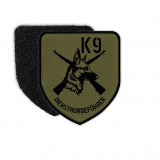 Patch K9 Diensthundeführer Malinois Belgischer Schäferhund Uniform Klett #30469