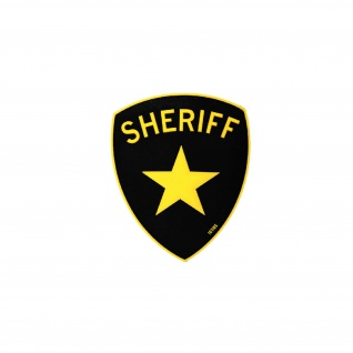 Sheriff Patch Cop Bulle Polizei Bad Ass Stern Airsoft 3D Rubber 10x8cm #20294