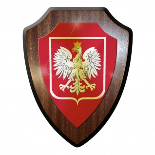 Wappenschild - Polen Wappen Fahne Poland Wappen Abzeichen #8992