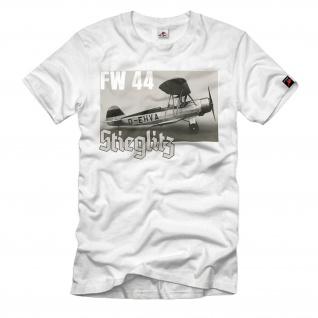 FW44 Stieglitz Doppeldecker Flugzeug Luftwaffe Oldtimer Kunstflug T-Shirt#32640