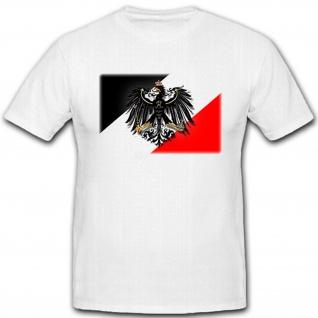 Preußen Adler schwarz weiß rot Deutschland Friedrich der Große - T Shirt #12835 - Vorschau 1