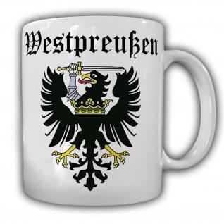 Tasse Westpreußen Adler Preußen Heimat Danzig preußische Provinz Wappen #25174