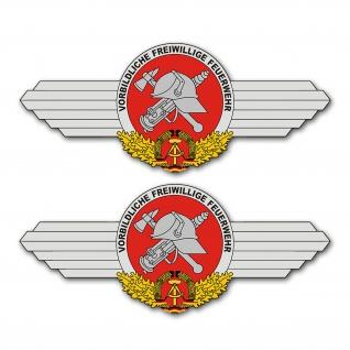 Freiwillige Feuerwehr DDR Set Logo Wappen FFW Emblem 33x14cm A5282