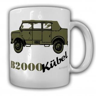 Borgi B2000 Kübel Bundeswehr Oldtimer A-O 0, 75 tgl LKW Kübelwagen BW BGS - Tasse #25345