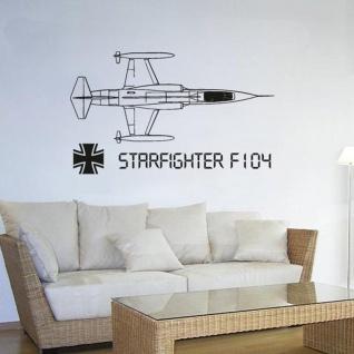 Starfighter F104 Flugzeug Bundeswehr Militär Luftwaffe - (ca. 45x75cm ) #3447