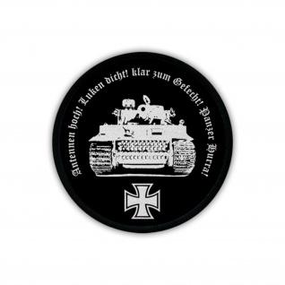 Tiger Panzer Hurra Panzerkampfwagen Panzertruppe Uniform Patch Aufnäher #17791