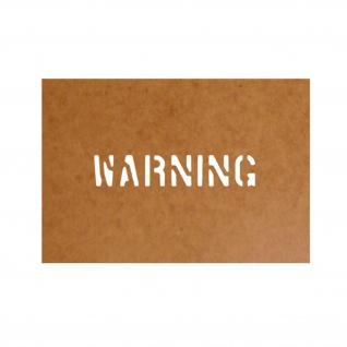 Achtung Schablone Ölkarton Lackierschablone 2, 5x13cm # 15181