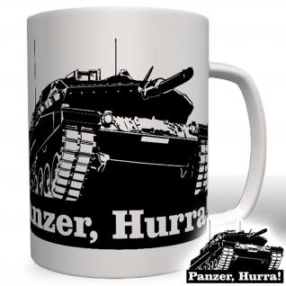 Panzer, Hurra! Panzerfahrzeug Panzerkampfwagen Leopard Tasse Becher Kaffee #5417