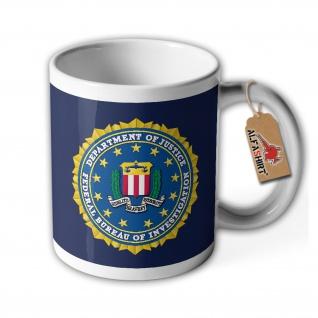 Tasse FBI Abzeichen Wappen Bundespolizei USA Amerika Emblem USA #34697 - Vorschau