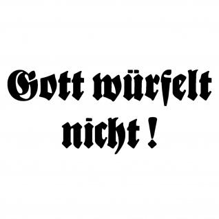Wandtattoo Gott würfelt nicht Spruch Zitat Albert Einstein Deko 109x45cm #A5204
