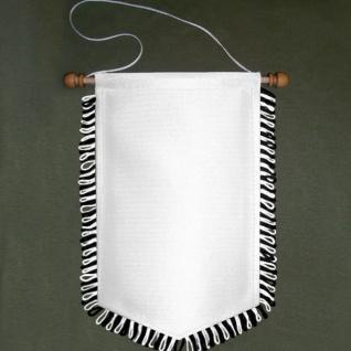 Wimpel Blanko Sublimationsdruck schwarz weiß Fransen Bedruckbar 16x25cm #16887