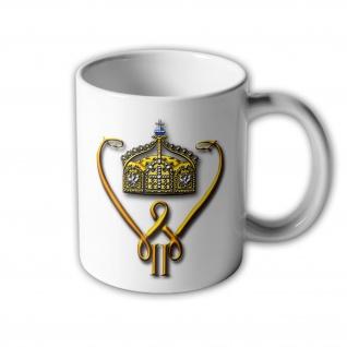 Kaiser Wilhelm II Monogramm Logo Wappen Emblem Deutschland Tasse #32597