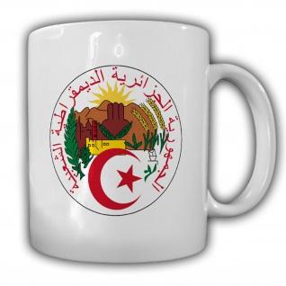 Algerien demokratische Volksrepublik Abzeichen Emblem Wappen - Tasse #13282