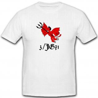 3JG 71 Jagdgeschwader WK Luftwaffe Wappen Emblem Abzeichen T Shirt #2493