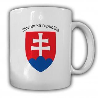 Emblem Slowakische Republik Tasse Kaffee Becher #13903