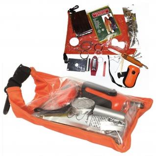 Survival Pack Zivil Orange Outdoor Notfallpackung Set Sack Signalfarbe #16902