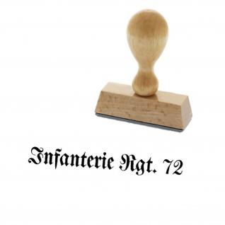 Infanterie Rgt 72 Regiment Einheit Offizier Stempel Holzstempel 3, 3x0, 4cm #15017