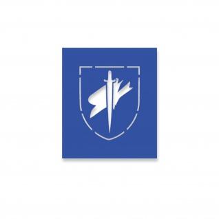Lackier-Schablonen-Aufkleber 6 Fallschirmjäger Division 6FJD Div 10x8cm#A4351