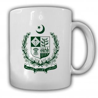 Islamische Republik Pakistan Wappen Emblem Kaffee Becher Tasse #13848