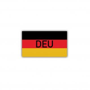 Aufkleber/Sticker Deutschland Flagge Fahne Flag DEU ISAF 7x4cm A1705