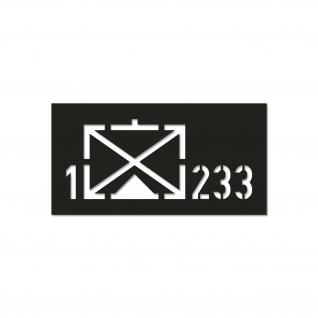 1 GebJgBtl 233 Krad Gebirgsjäger Btl 18x8 cm Lackierschablonen Aufkleber #A4746