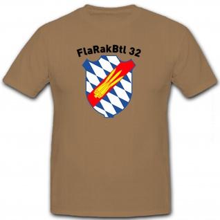FlaRakBtl 32 Flugabwehr Bundeswehr Bw Militär Deutschland Wappen - T Shirt #8548