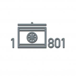 Aufkleber Taktisches Zeichen 1 TrspBtl 801 Lippstadt Transportbtl 33x16cm #A5247