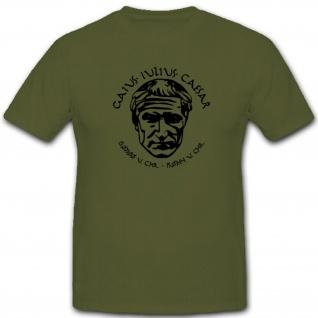 Julius Cäsar Römisches Reich Imperium Rom Italien Imperator - T Shirt #4395