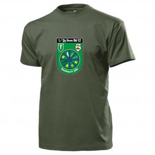 1 PzGrenBtl 52 Panzergrenadier Bataillon BW Wappen Abzeichen - T Shirt #15450