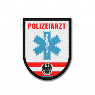 Patch Polizeiarzt Österreich Arzt Polizei Wappen Abzeichen Doktor 9x7cm #26184