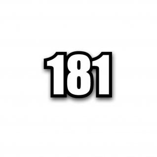 TYP 181 Zahl Nummer Sticker Aufkleber passend für VW Kübel 10x7cm#A3679