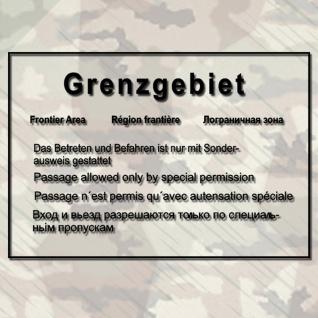 Grenzgebiete DDR Mauer Warnschild Wandtattoo 45x30cm A295