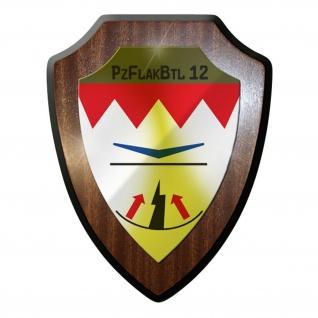 Wappenschild / Wandschild - PanzerFlakBataillon 12 PzFlakBtl Bundeswehr #8977