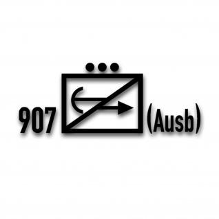 Taktische Zeichen Gefechtsfeldausbildungszug 907 Aufkleber 15x40cm#A4282