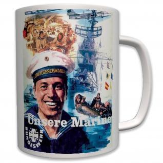 Militär Unsere Marine Bundesmarine Deutsche Bundeswehr Deutschland Tasse #6430