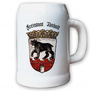 Krug / Bierkrug 0, 5l - Freistaat Anhalt Sachsen-Anhalt Landeswappen Dessau #9453