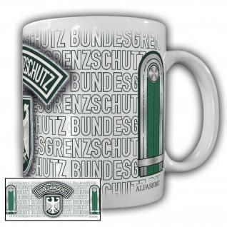 Tasse Fahnenjunker BGS Bundesgrenzschutz Wappen Abzeichen Adler #23691