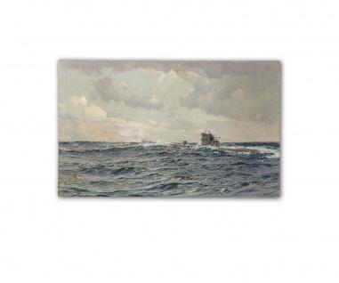 Poster U-Boot auf hoher See Claus Bergen Marine ab 30x20cm #33144