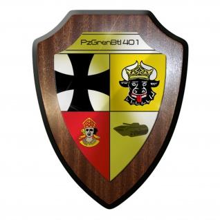 Wappenschild / Wandschild - PzBtl401 Panzerbataillon 401 Panzer Leopard #9619