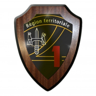Wappenschild -REGION TERRITORIALE 1 -Territorialregion Schweizer Armee #14238