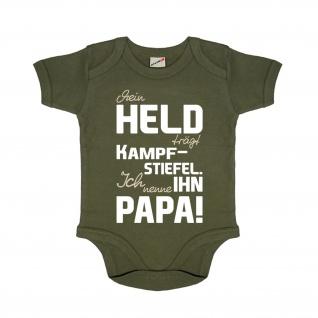 Mein Held der Papa Kampf Stiefel Neugeborenes Baby Body Strampler oliv #27848
