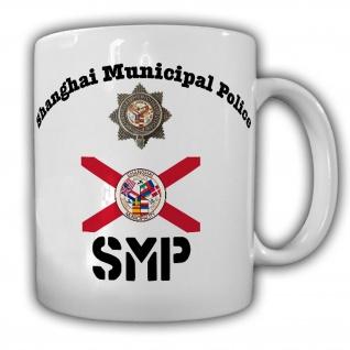 Tasse SMP Shanghai Municipal Police Polizei Wappen Abzeichen Council #21786