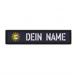 Patch Namens-Schild Polizei Mecklenburg Vorpommern Klett Streifen Uniform #37760