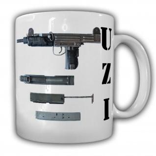 Tasse Kompakte Maschinenpistole Uzi MP Israel Military Industries IMI #16060