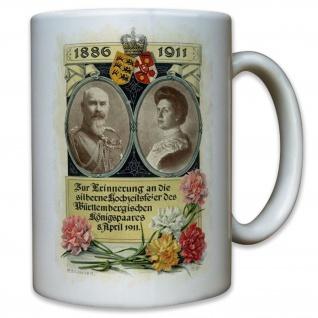 Königspaar Württemberg Silber Hochzeit König Baden Deutschland - Tasse #9535