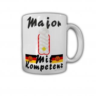 Major Artillerie Schulterklappe Dienstgrad DDR NVA Genosse Militär Kaffee #27362